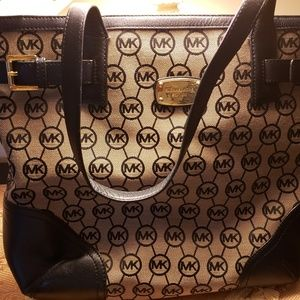 MK monogram canvas and leather